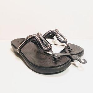 Crocs Dual Comfort Thong Sandals Black